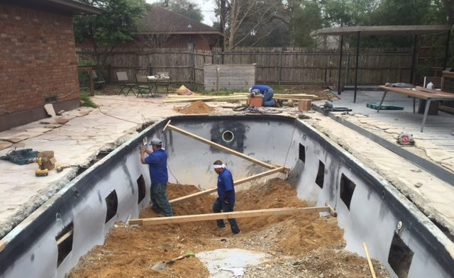 Dallas Tx Fiberglass Pool Remodeling Job Texas Fiberglass Pools Inc