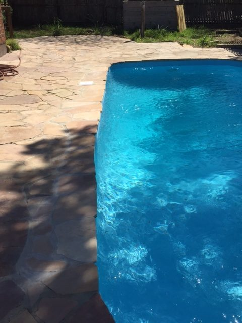 Dallas TX Fiberglass Pool Resurfacing Job
