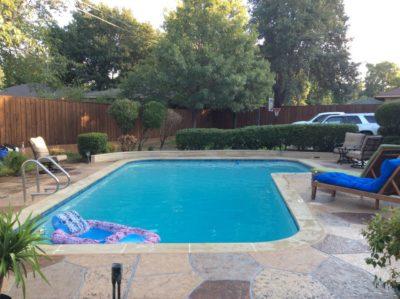 Sherman, TX Fiberglass Pool Remodeling Job