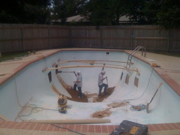 Denton TX Pool Remodeling Job