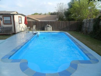 Resurfaced Fiberglass Pool