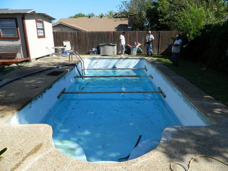 Resurfaced Fiberglass Pool
