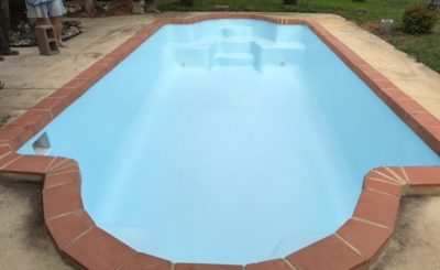 After San Antonio, Texas Fiberglass Pool Remodeling